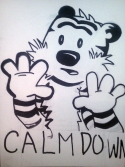 calm down, Calvin Hobbes, stay calm