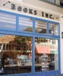 Books Inc., book store, author reading, rain, traffic
