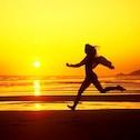 Women running in sunset from http://imgix.8tracks.com/i/000/109/761/c/Woman_running_beach_dupe-1979.jpg?fm=jpg&q=65&w=126&h=126