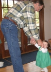 dancing, grandfather, baby dancing