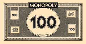 Monopoly money, practical joke, state flower