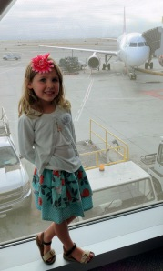 granddaughter, flying, airplane, grandmothering, traveling, adventures in babysitting