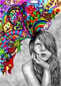 imagination, writing, thinking