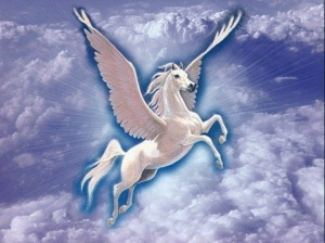 white-winged horse