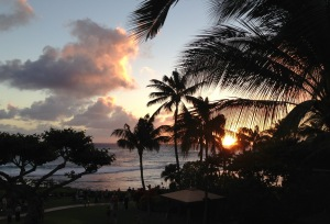 Kauai, sunset, relaxation,