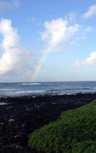 rainbow, sea