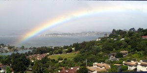 S.F. Bay Rainbow by Pamela S. Wight