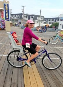 Biking on the OC, NJ Boardwalk.