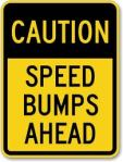 speed bumps, driving