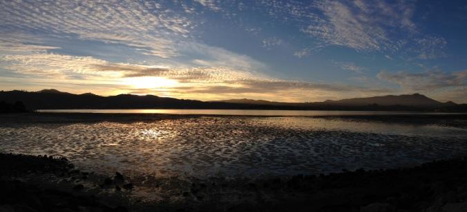 Richardson Bay, Marin County, sunset