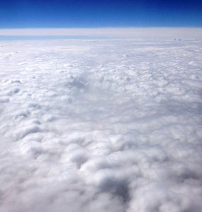 clouds, airplane, sky