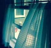 curtains, spring breeze