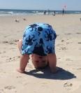 play, beach, children