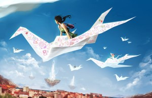 childhood,crane,fly,girl,japan,origami-8d99a399ad3489d0c9361885b3c56822_h