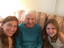 Great-grandmother with granddaughter and great-granddaughter.