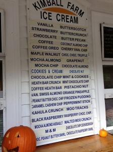 ice cream flavors, mint chocolate chip, cherry vanilla