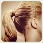 blonde and perky, blonde ponytail
