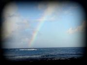 rainbow, sea, time