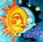 the sun, the moon, the stars