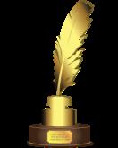 Word Press award, trophy, writing, blogging