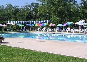 Brookside Swim Club, swimming meets