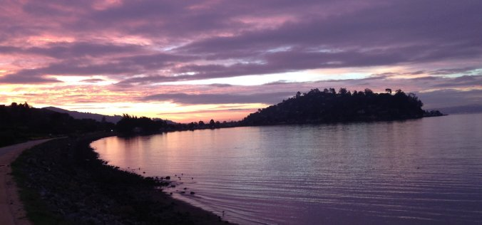 sunrise, Richardson Bay