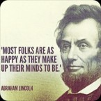 Abe Lincoln on happiness