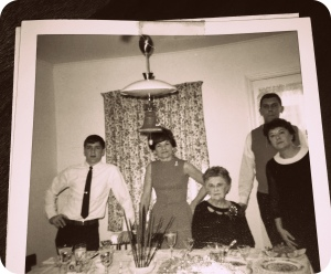Thanksgiving, 1960s meal, 1960s Thanksgiving, photo album