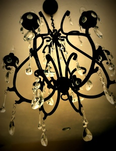 chandelier, crystal, flash fiction