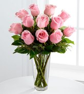 Mother's Day, long-stemmed pink roses