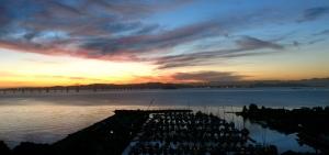 dawn, san francisco bay, paradise cay