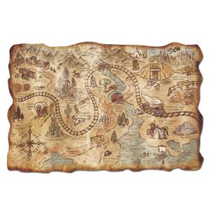 treasure map, flash fiction