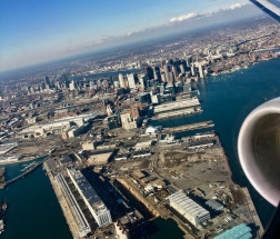 Boston, flying to Boston