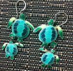 earrings, turtles, Honu