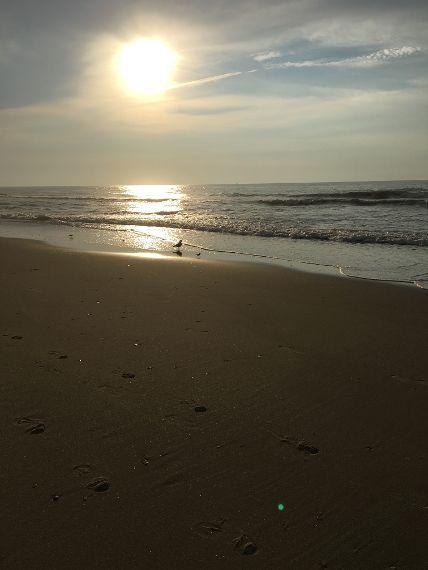 Atlantic Ocean, sunrise over the Atlantic Ocean, Ocean City NJ
