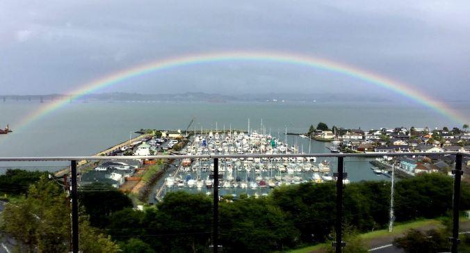 rainbow, paradise cay, Tiburon, San Francisco Bay
