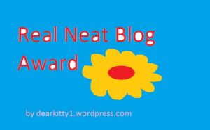 Real Neat Bog Award, blogging