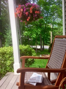 porch, rocking chair, doing nothing, New England relaxing