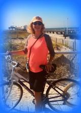 Ocean City NJ Boardwalk, bking on the boardwalk