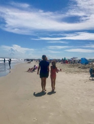 walking the beach, blogging,