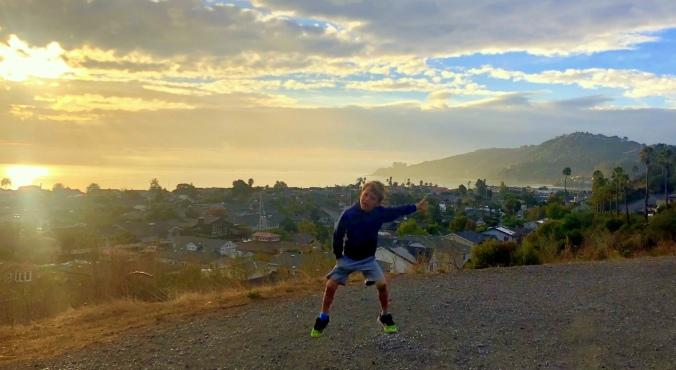 jump for joy, Mt. Tamalpais, S F Bay