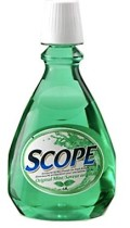 Scope, mouthwash, bad breath, love story