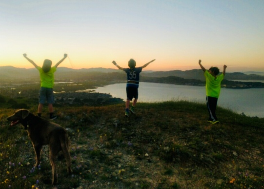 grandson, San Francisco Bay, view, happiness