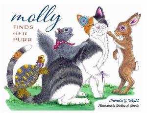 illustrated children's book, picture book, cat book