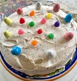 cake, dessert, vanilla cake Easter cake