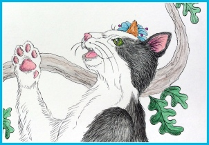 Molly Finds Her Purr, illustrated children's book, picture book, purr