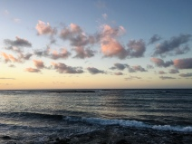 clouds, ocean, Hawaii, Kauai, sunrise