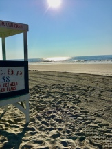 ocean, lifeguard, lifeguard stand, seashore