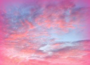 pink sky, clouds, spirituality, heaven