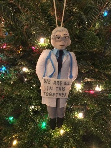 Dr. Fauci, Christmas, ornament